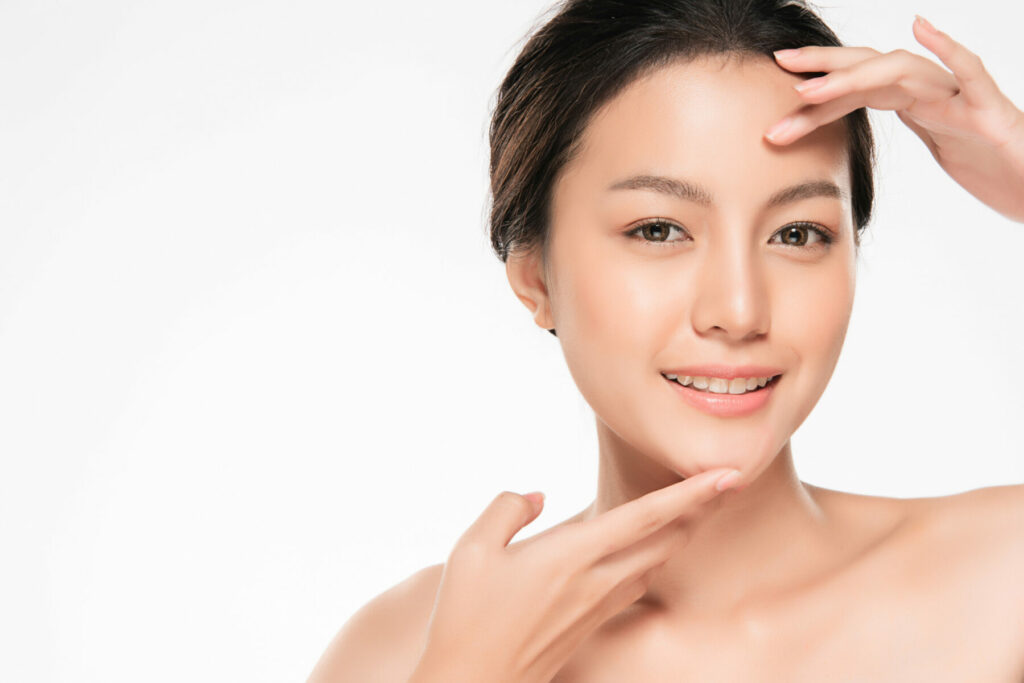 asian Woman with Clean Fresh Skin