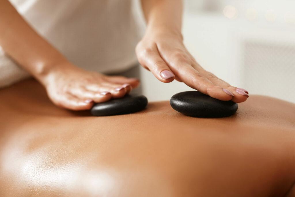back hot stone massage